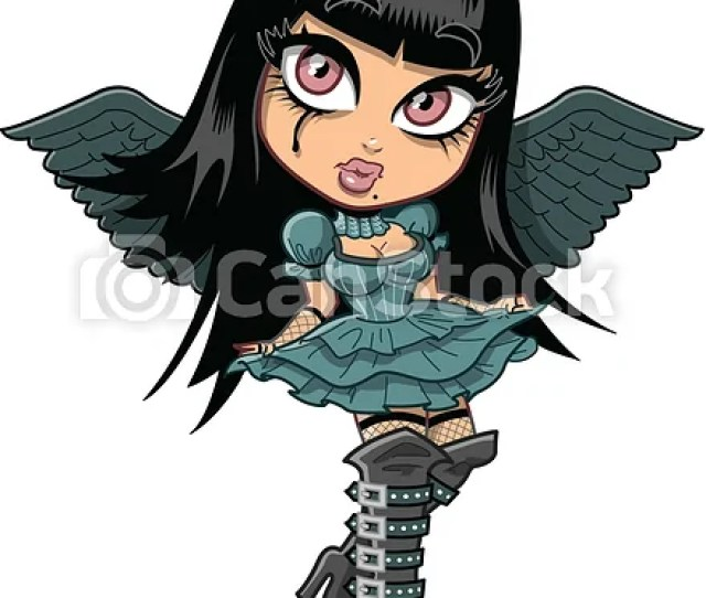 Cute Goth Girl With Wings Csp11082651