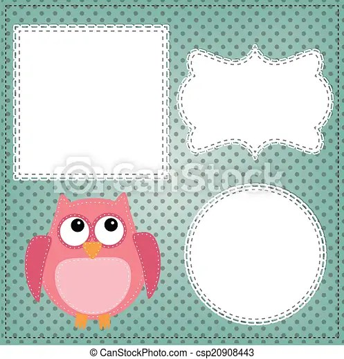 cute owl layout with