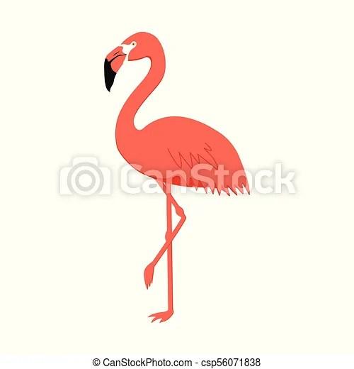 cute pink flamingo