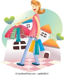 shopping cute illustration cartoon promotion clipartpanda drawings vector clip drawing
