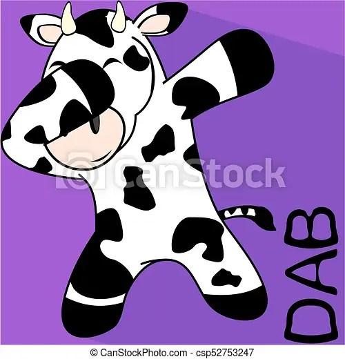 dab dabbing pose cow