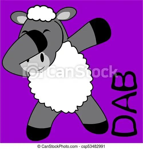 dab dabbing pose sheep