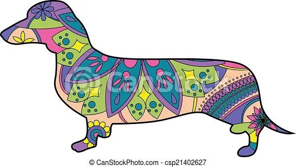 dachshund. vector illustration