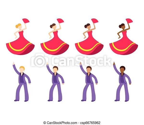 dancer emoji icon set