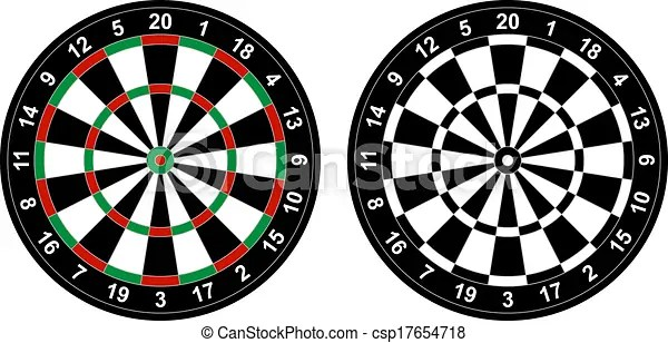 photograph relating to Printable Dart Board called 20+ Video games Totally free Dart Clip Artwork Black And White Programs and Layouts