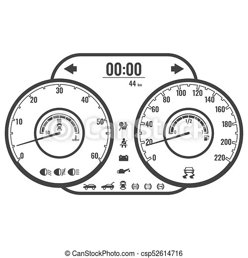 Dashboard instrument control panel or fascia in simple