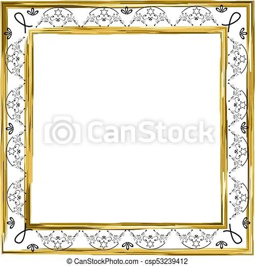 decorative vintage frame. gold