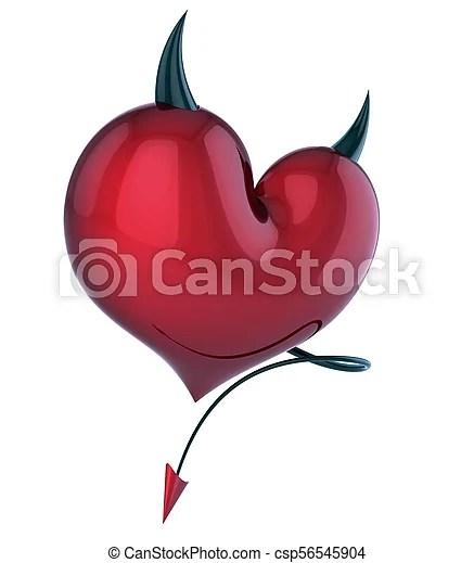 devil heart evil love