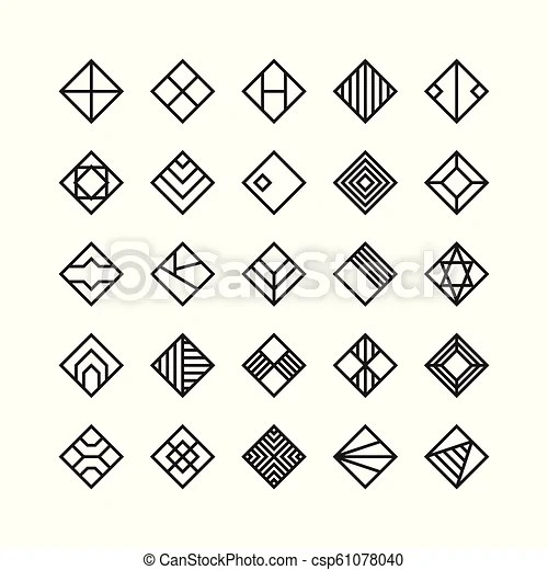 Diamond shape , geometric vector icon , ornament.