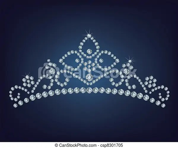 Diamond tiara vector illustration clipart vector