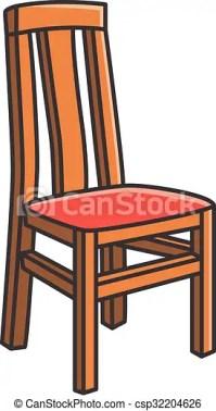Dining room chair vector cartoon illustration vector ...
