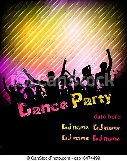 Disco Party Poster Background Poster For Disco Party With