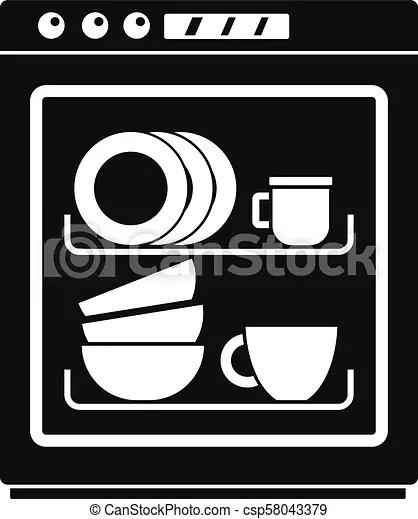 dishwasher icon simple style
