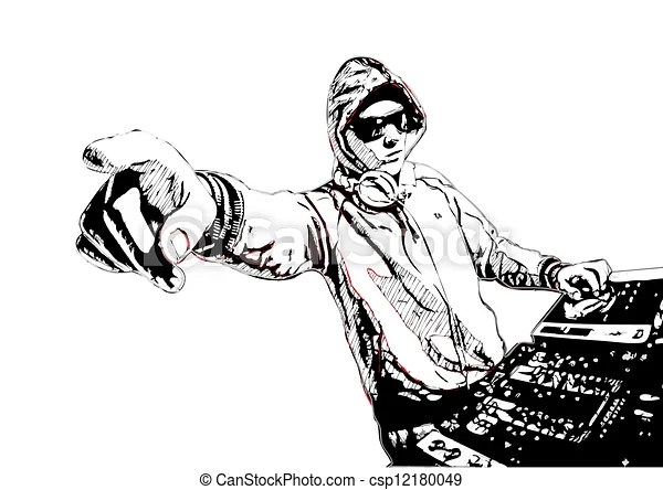 Dj In Action Illustration Of Dj Eps Vector Search Clip