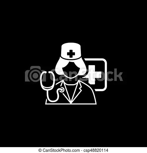 Doctor on duty icon. flat design. Doctor on duty icon. flat design isolated illustration.