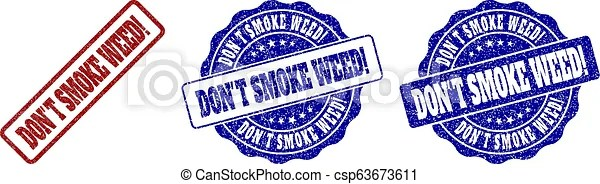 Don't smoke weed! grunge stamp seals. Don't smoke weed! scratched stamp seals in red and blue colors. vector don't smoke weed! marks with dirty ...