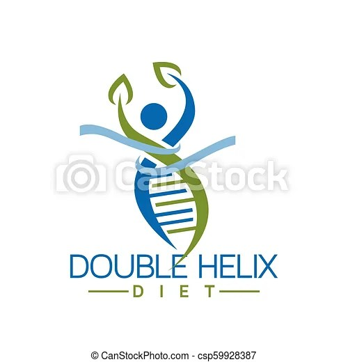 double helix dna with