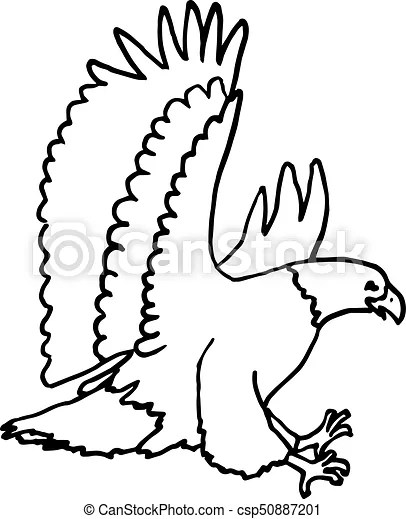 Eagle clipart. A simple eagle outline drawing.