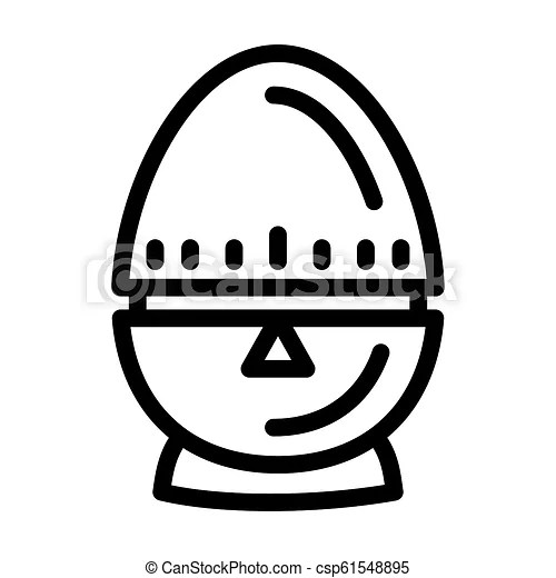 Egg timer icon, outline style. Egg timer icon. outline egg