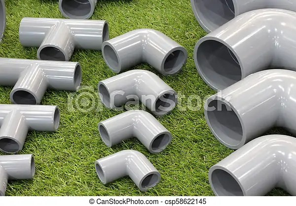 Elbow And Three Way Pvc Pipe Fittings Connectors For Plumbing And Piping Work