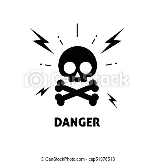 Electrical hazard sign vector illustration, flat cartoon