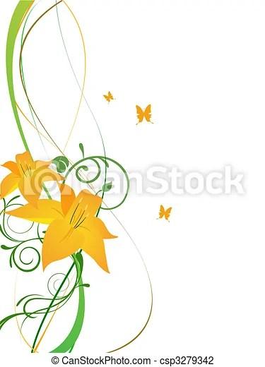 elegant flowers. vector illustration