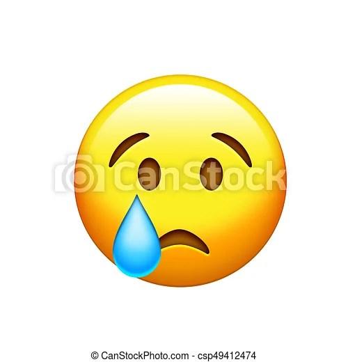 emoji yellow sad face