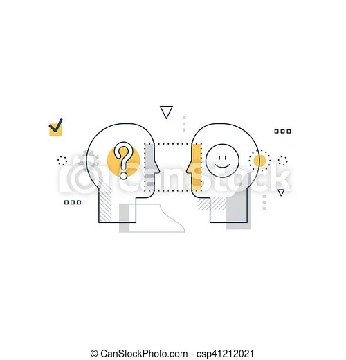 Emotional intelligence concept, communication skills