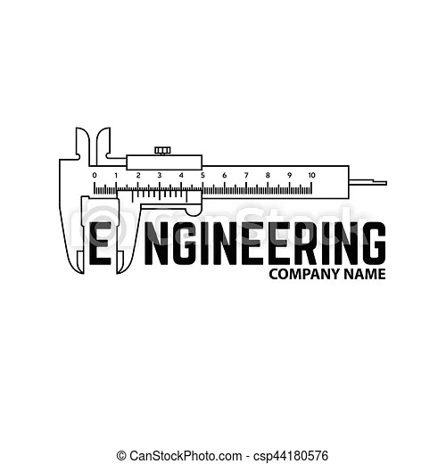 Engineering company logo template. Engineering company