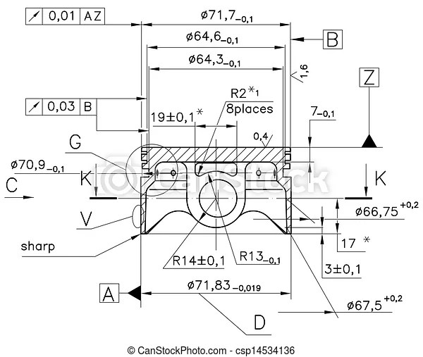 Example of industry document blueprint. Design drawings of