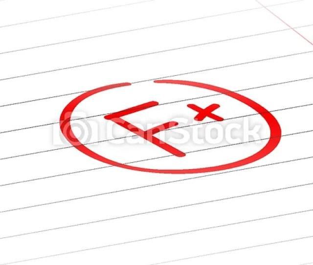 F Plus Examination Result Grade Red Latter Mark Csp59701290