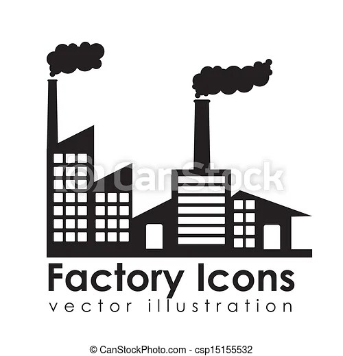 Factory icons over white background vector illustration.