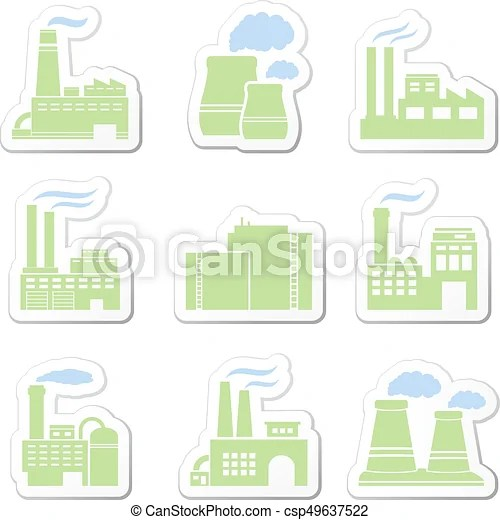 factory vector stickers