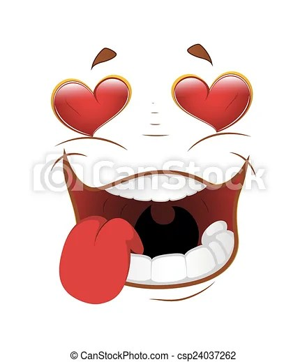 funny cartoon falling in love face