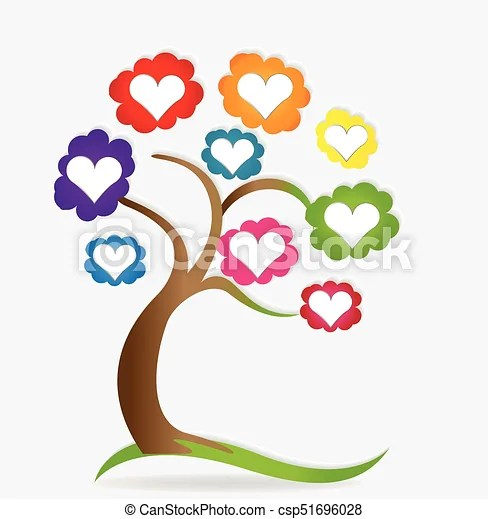 family love hearts tree