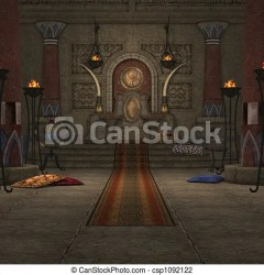 throne room fantasy 3d clip clipart illustration render drawing canstockphoto