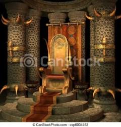 Fantasy throne room 3d render CanStock
