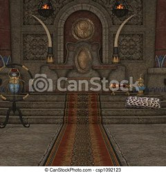 throne room fantasy 3d clipart render drawing drawings illustration clip line canstockphoto