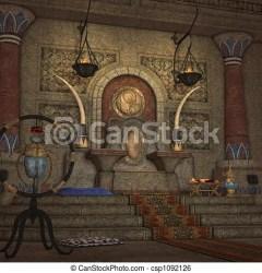 throne room fantasy 3d clip illustration render drawing line canstockphoto