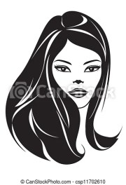 fashion girl with hairstyle