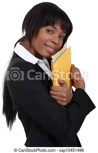 File clerk hugging a folder.