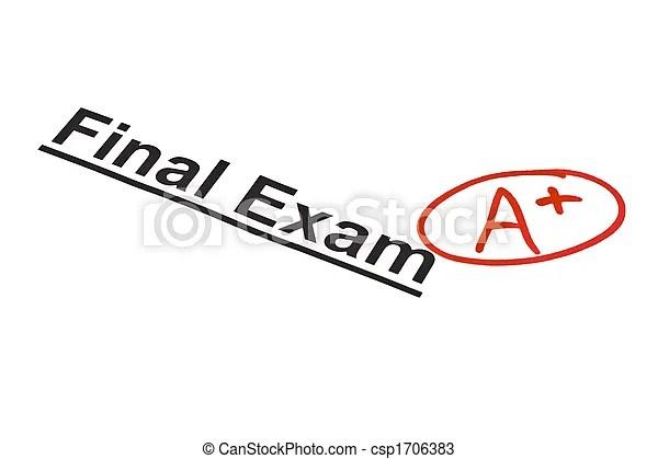 Final exam marked with a+ Final exam marked with a+