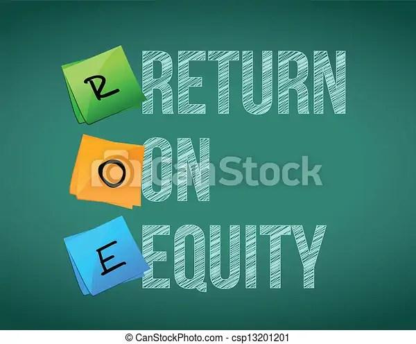 Financial return on equity written illustration design on a blackboard.