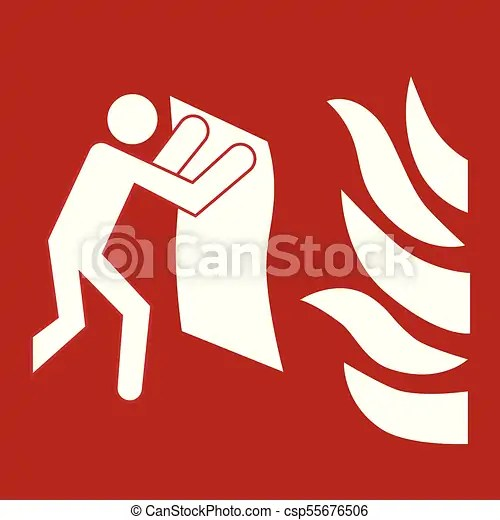 Fire blanket sign Safety sign fire blanket location sign