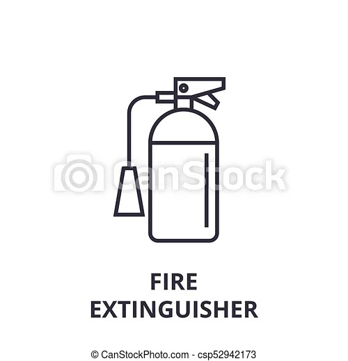 Fire extinguisher line icon, outline sign, linear symbol