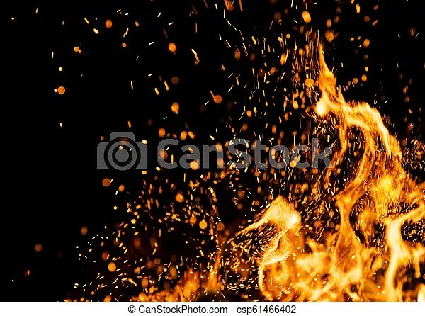 fire sparks with flames
