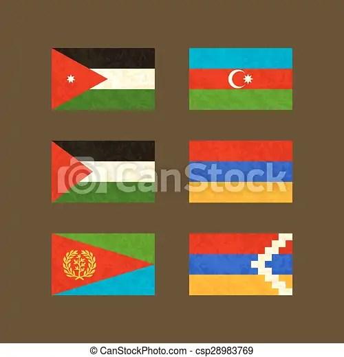 flags of jordan azerbaijan