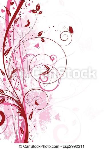 Floral grunge Decorative floral grunge background with