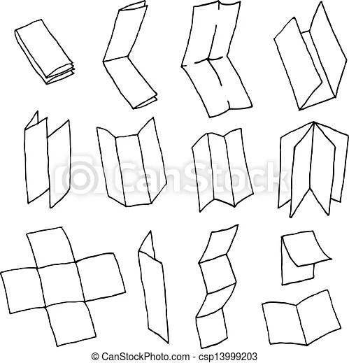 Flyer or brochure format paper set.