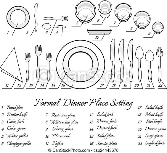 pictures of formal table settings